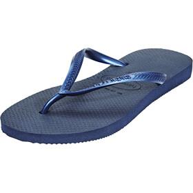 havaianas Slim Sandalen Dames blauw
